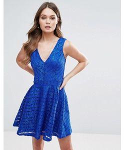 Lipsy | Короткое Приталенное Платье Из Кружева