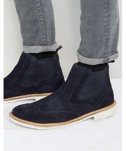 Tommy Hilfiger | Замшевые Ботинки С Перфорацией В Стиле Броги Metro