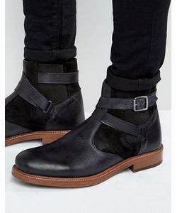 Asos   Черные Кожаные Ботинки Челси На Меховой Подкладке