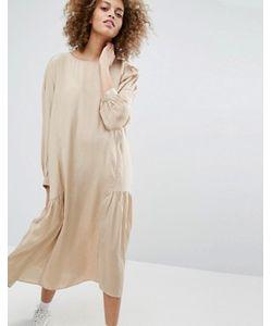 STYLE NANDA | Блестящее Платье С Заниженной Талией И Присборенной Юбкой Stylenanda
