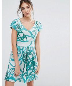 Closet London | Платье Со Складками И V-Образным Вырезом Closet