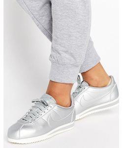 Nike | Серебристые Кроссовки Cortez