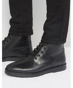 Asos | Черные Кожаные Ботинки На Шнуровке