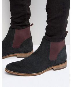 Asos   Черные Замшевые Ботинки Челси