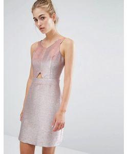 Miss Selfridge | Короткое Приталенное Платье С Эффектом Металлик