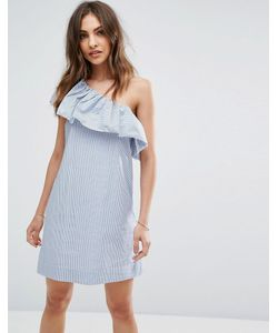 Abercrombie and Fitch | Платье На Одно Плечо С Оборкой
