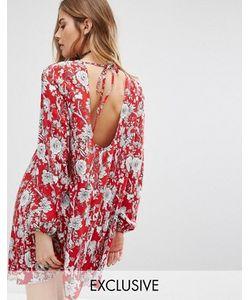 Reclaimed Vintage | Свободное Платье С Открытой Спиной И Цветочным Принтом