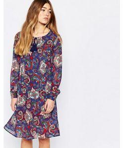 Diya | Свободное Платье С Удлиненной Спинкой И Принтом Пейсли