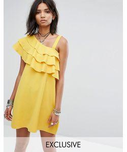 Rokoko | Платье На Одно Плечо С Оборками