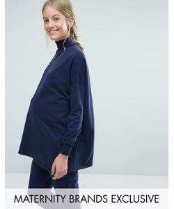 Bluebelle Maternity | Свободный Свитшот С Воротником-Трубой