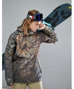 Burton Snowboards - Утепленная Горнолыжная Куртка С Капюшоном И Принтом  Тай-Дай Hilltop 4d0f144d033