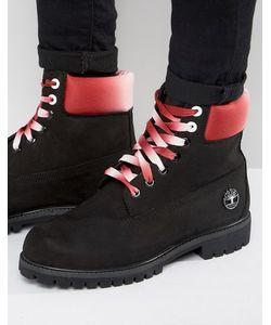 Timberland | Черные Премиум-Ботинки 6 Дюймов