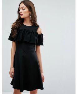 Y.A.S. | Платье С Оборкой И Вырезами На Плечах Y.A.S