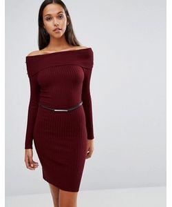 Lipsy | Платье Миди С Широким Вырезом И Ремнем Michelle Keegan Loves