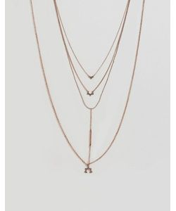 Asos | Многорядное Ожерелье С Планкой И Подвесками