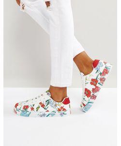 New Look | Кроссовки С Цветочным Принтом