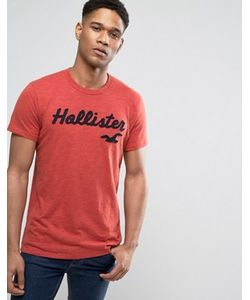 Hollister | Team Logo T-Shirt Slim Fit Sleeve Stripe In