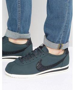 Nike | Черные Кожаные Кроссовки Classic Cortez Se 861535-300