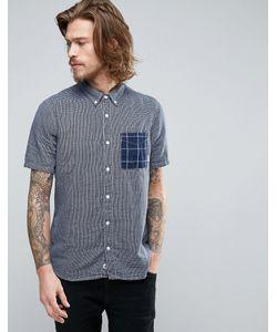 Element | Синяя Клетчатая Рубашка С Короткими Рукавами Dale