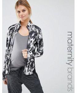 Mama Licious | Повседневная Куртка На Молнии С Принтом Mamalicious