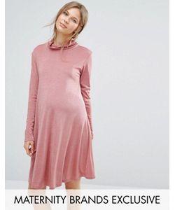 Bluebelle Maternity | Свободное Платье Для Беременных С Высокой Горловиной