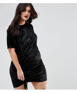 Boohoo Plus | Бархатное Платье С Присборенной Драпировкой
