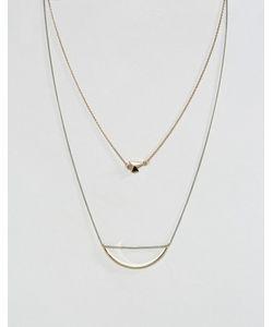 Asos | Ожерелье В Несколько Рядов С Асимметричными Подвесками