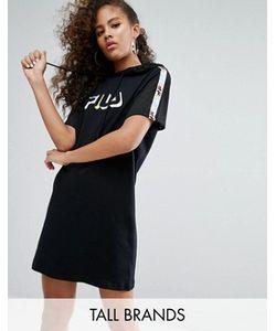 Fila Tall | Платье С Капюшоном Лазерной Отделкой Логотипом И Лентой