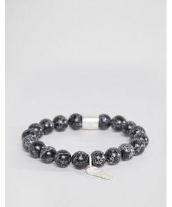 Chained & Able | Браслет С Камнями И Металлическими Деталями