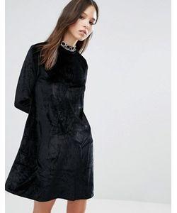 Brave Soul   Вельветовое Приталенное Платье