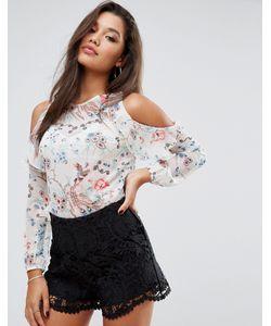 Lipsy | Блузка С Оборкой И Открытыми Плечами