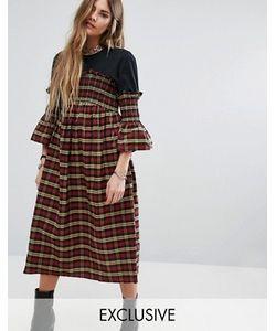 Reclaimed Vintage | Платье Миди С Присборенной Отделкой