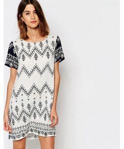 Vila | Цельнокройное Платье С Зигзагообразным Принтом