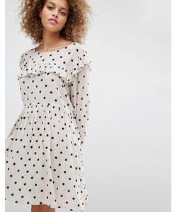 STYLE NANDA | Свободное Платье В Горошек Stylenanda