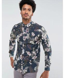 Selected Homme | Узкая Рубашка С Тропическим Принтом