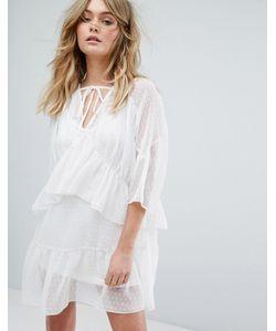 MISSGUIDED | Сетчатое Платье Мини В Горошек