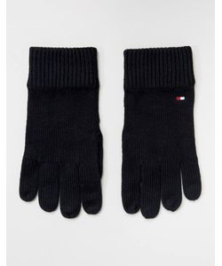 Tommy Hilfiger | Черные Перчатки На Основе Хлопка Пима