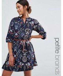 Yumi Petite | Платье С Поясом И Цветочным Принтом