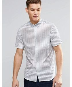 Asos | Рубашка В Вертикальную Полоску С Короткими Рукавами
