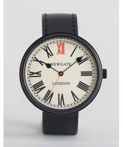 Newgate | Часы С Черным Кожаным Ремешком