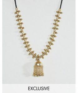 Reclaimed Vintage | Металлическое Ожерелье С Шариками