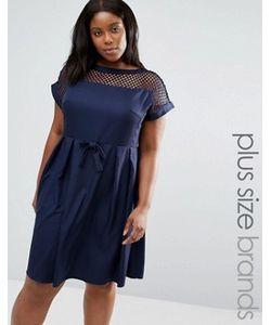 Praslin | Платье С Сетчатой Вставкой Сверху Plus