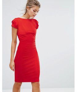 Closet London | Платье-Футляр С Присборенными Короткими Рукавами Closet