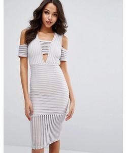 MISSGUIDED | Платье С Сетчатыми Вставками И Открытыми Плечами