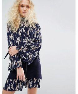 I Love Friday | Плиссированная Рубашка С Цветочным Принтом И Бантом-Завязкой