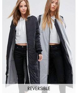 Asos | Двусторонняя Удлиненная Куртка