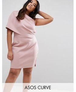 ASOS CURVE | Платье Мини На Одно Плечо С Широким Отворотом И Молнией