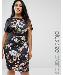 Praslin | Короткое Приталенное Платье С Боковыми Вставками Plus Illusion