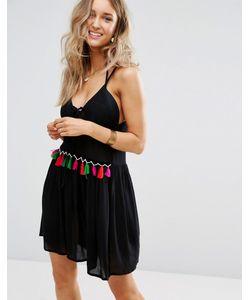boohoo | Пляжное Платье С Кисточками