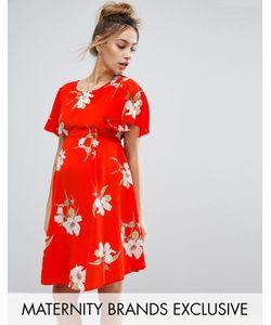 Queen Bee | Чайное Платье С Цветочным Принтом И Завязкой На Спине